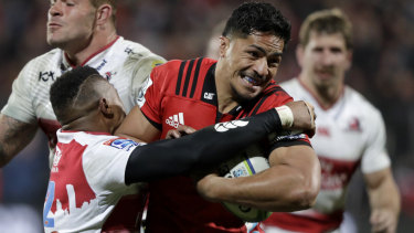 Back-to-back: Wallabies back rower Pete Samu clinched a second Super Rugby title with the Crusaders last week.