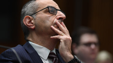 Home Affairs secretary Mike Pezzullo fronts a Senate estimates inquiry on Thursday.