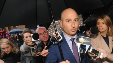 Charged: Sydney solicitor Ali Abbas outside court in a previous case.