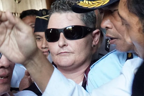 'She's a free woman': Drug smuggler Renae Lawrence walks out of Bali jail