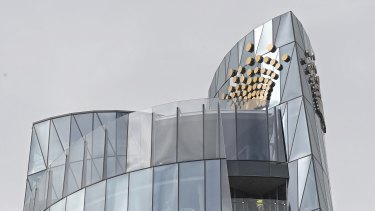 The future of Crown's Sydney casino (pictured) is under a cloud and it now faces a possible review of its  United Kingdom casinos.