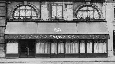 Maxim's restaurant, Paris.