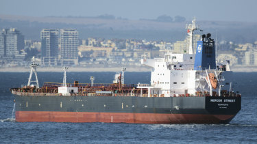 The Liberian-flagged oil tanker Mercer Street, pictured in 2016, was attacked on Thursday night.