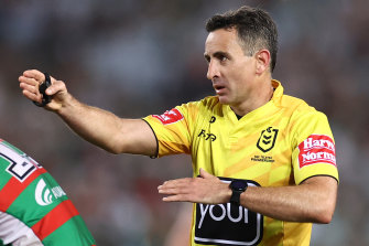 Grand final referee Gerard Sutton is targeting 'perfection'.