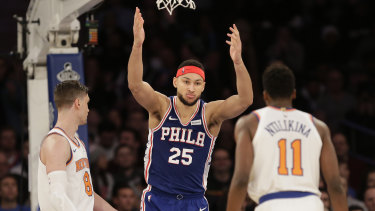 Ben Simmons is trailing in the NBA All-Star voting.