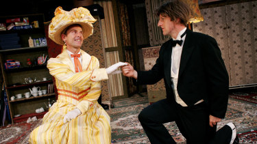 Jon Haynes and David Woods in <i>The Importance of Being Earnest</i>.