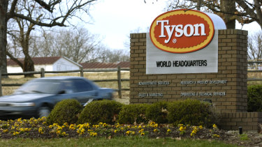 Only about half of Tyson Foods's employees have been vaccinated.