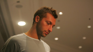 """It's been a very trying time for me."" Ian Thorpe at the press conference on March 7, 2006"