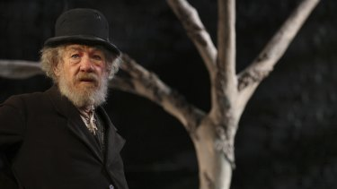 Ian McKellen in Waiting for Godot.