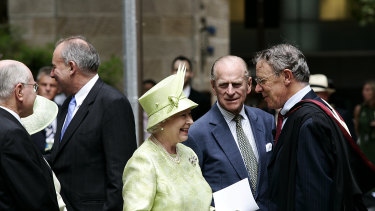 Queen Elizabeth and Prince Philip visit St Andrew's Cathedral in 2006.