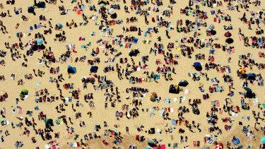 The infectious man spent December 28 at Bondi Beach.