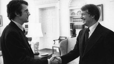 Hicks meeting Jimmy Carter.
