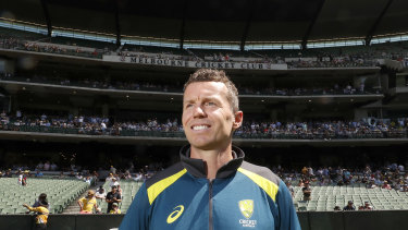 Peter Siddle at the MCG on Sunday after announcing his retirement from international cricket.