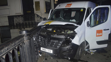 An undated handout photo of the van used in the 2017 London Bridge attacks.
