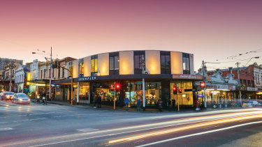 The prominent corner shops at 83-87 Smith Street, Fitzroy, sold under the hammer.