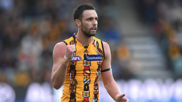 Hawks forward Jack Gunston has struggled with form and injury this season.