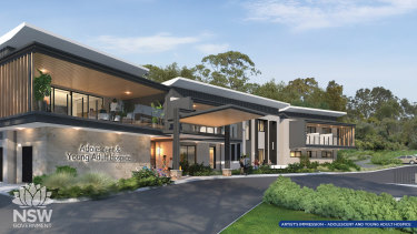 An artist's impression of the hospice for young adults.