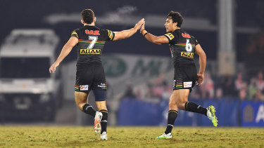 Nathan Cleary and Jarome Luai have been playing together at Penrith since they were young teenagers.