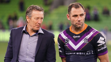 The end of Craig Bellamy and Cameron Smith's time at the Storm is being planned for by the club.