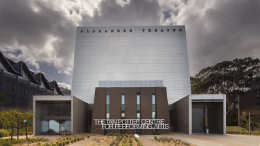 Architect Peter Elliott's Ian Potter Centre for Performing Arts at Monash University's Clayton campus.