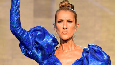 Celine Dion performing in Britain's Hyde Park earlier this year.