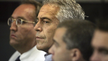 Jeffrey Epstein appears in court in West Palm Beach in 2008.