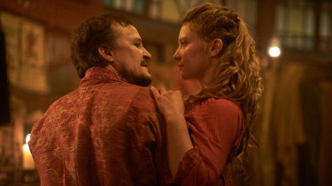 Damon Herriman and Mia Wasikowska  are the eponymous puppeteers in Judy and Punch.
