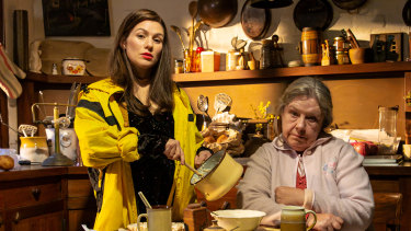 Yael Stone and Noni Hazelhurst in Sydney Theatre Company's Beauty Queen of Leenane.