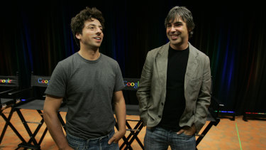 Google co-founders Sergey Brin, left, and Larry Page announced plans to step down from the search giant's parent company Alphabet 10 months ago.