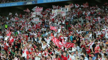 More than 71,000 Dragons and Tigers fans turned out for the 2010 preliminary final at ANZ Stadium.