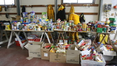 Donations flood into Kinglake after the devastation.