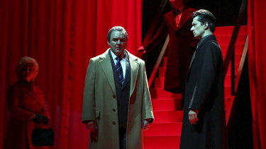 Barry Ryan as the former US president Richard Nixon in the Victorian Opera production of Nixon in China.