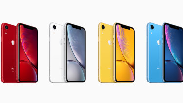 The iPhone XR comes in these stunning colours, as well as the less good coral and black.