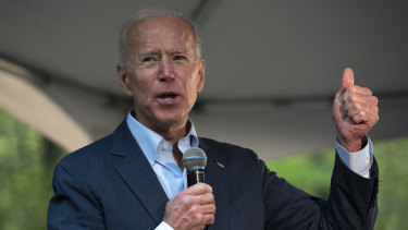 Joe Biden has held his lead in the polls as the Democrat contenders target Iowa.