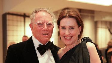 ABC radio host Virginia Trioli and husband Russell Skelton.