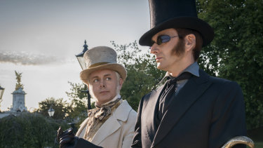 Michael Sheen and David Tennant star in the six-part adaptation of the 1990 novel by Terry Pratchett and Neil Gaiman.