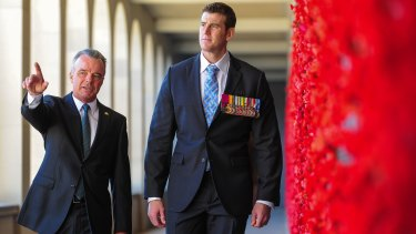 War Memorial head Brendan Nelson and SAS veteran Ben Roberts-Smith.