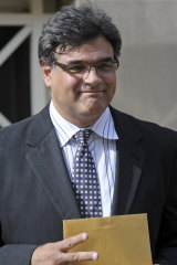 John Kiriakou leaves the courthouse in Alexandria, Virginia, where he was sentenced to 30 months' prison by judge Leonie Brinkema.
