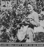 A woman in the Land Army featured in PIX magazine of 1946 that said Land Army women didn't want to go home after the war.