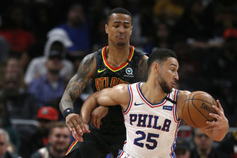 Philadelphia superstar Ben Simmons was forced from the court in February before the COVID-19 shutdown and could return straight into an NBA play-off series.