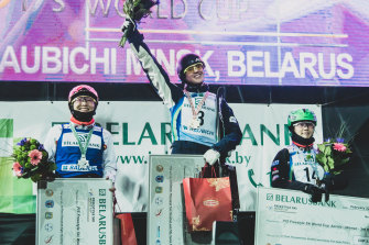 Laura Peel tops the podium in Minsk.