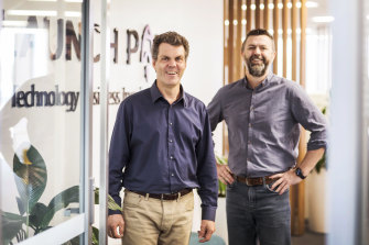 Aquacell CEO Colin Fisher (left) and Don Wright, the head of Launchpad at Western Sydney University.