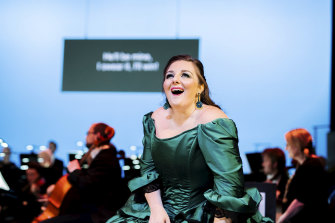 Sicilian mezzo soprano Chiara Amaru makes a triumphant Australian debut as Rosina.