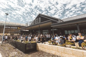 The Camfield across from Optus Stadium will host the most amount of people ahead of Saturday's grand final.