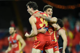 Rising Sun: Ben King kicked two goals for Gold Coast.
