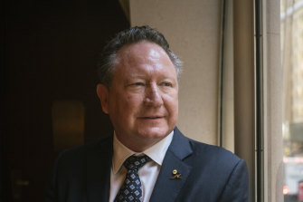 "Andrew ""Twiggy"" Forrest sees potential for Australia to be a major clean energy supply to Asia."