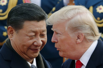 Chinese President Xi Jinping welcomed Donald Trump to China in November 2017.