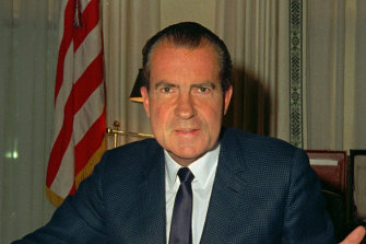 Historians have given Richard Nixon extremely low marks for integrity for his behaviour during the Watergate scandal.
