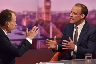 Foreign Secretary and First Secretary of State Dominic Raab on The Andrew Marr Show.