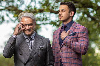 Myer Fashions on your Front Lawn judge Dom Bagnato and actor Youssef Sabet.